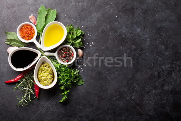 Herbs, condiments and spices Stock photo © karandaev