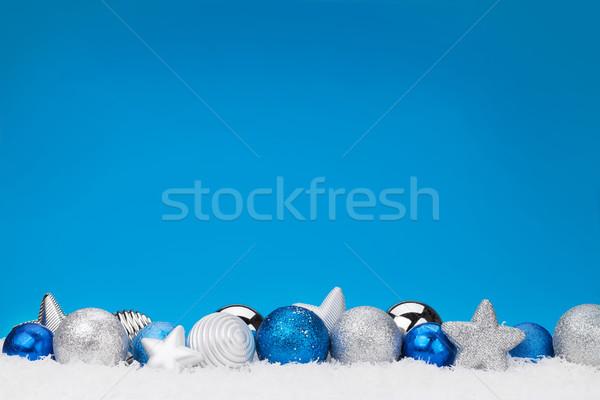 Christmas background with baubles Stock photo © karandaev