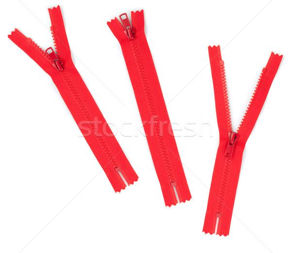 Piros izolált fehér divat szövet fogak Stock fotó © karandaev