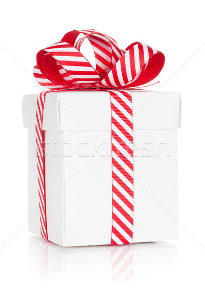 Stock photo: Christmas gift box. Isolated