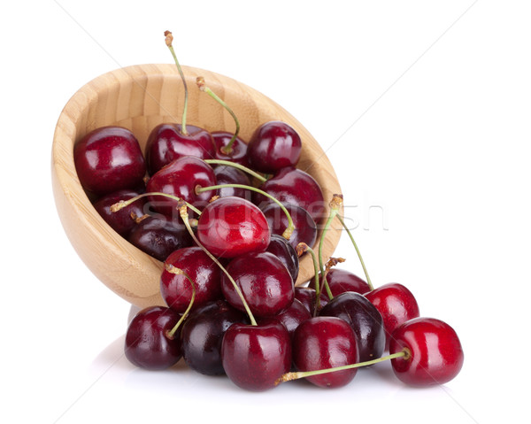 Spilled ripe cherries Stock photo © karandaev