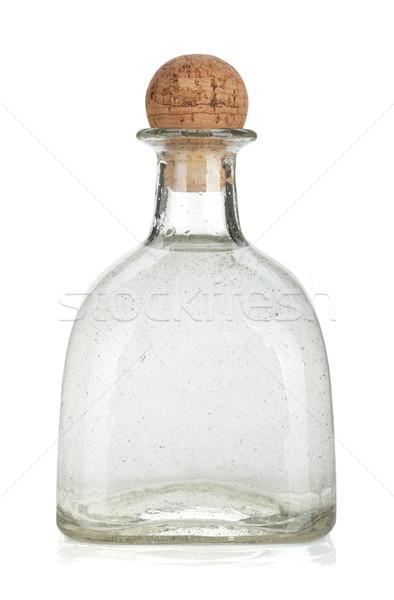 üveg ezüst tequila izolált fehér üveg Stock fotó © karandaev