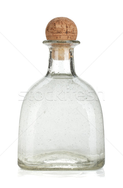 Botella plata tequila aislado blanco vidrio Foto stock © karandaev