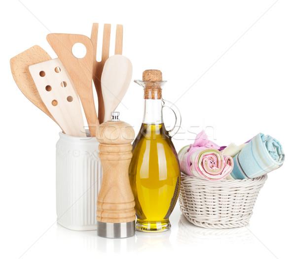 Cocina aislado blanco alimentos Foto stock © karandaev