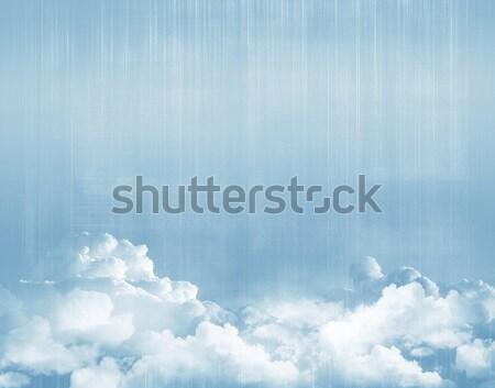 Blue sky above clouds Stock photo © karandaev