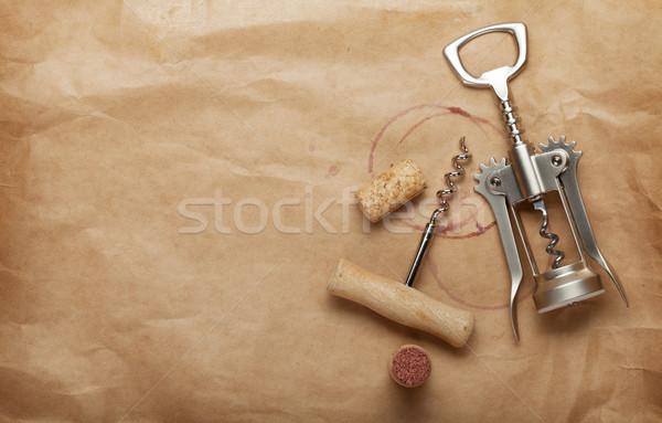 Mantar ambalaj kâğıdı bo Stok fotoğraf © karandaev