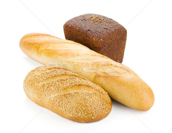Stock photo: Three loafs of bread