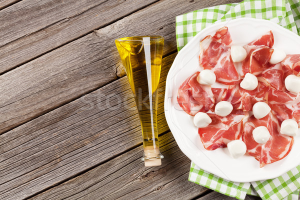 Prosciutto and mozzarella Stock photo © karandaev