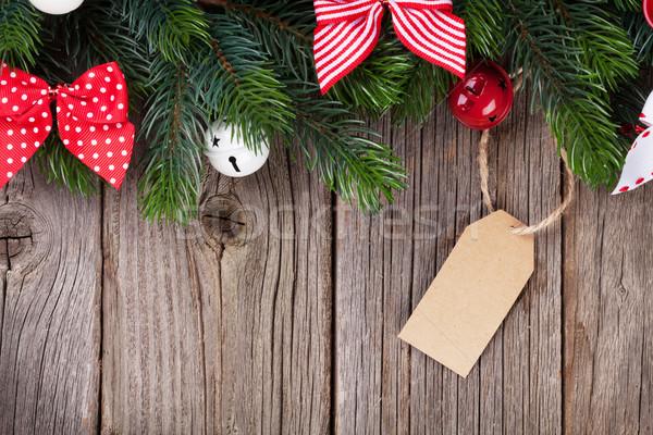 Navidad arco decoración cinta Foto stock © karandaev