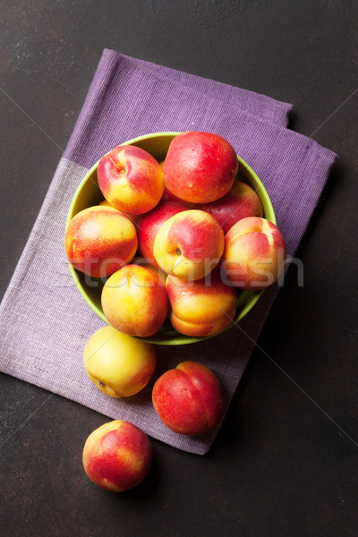 Fresh ripe peaches Stock photo © karandaev
