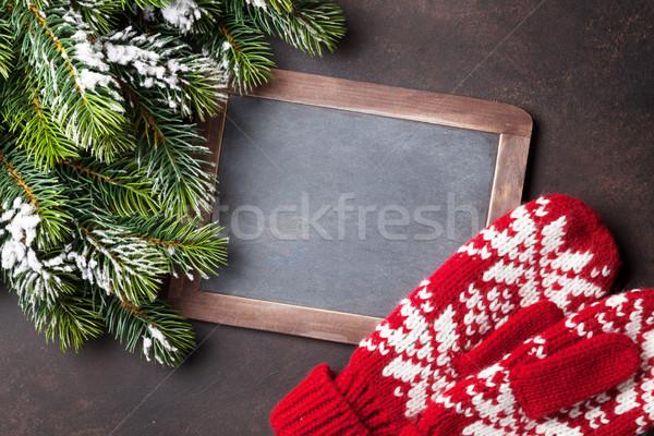 Navidad mitones pizarra superior Foto stock © karandaev
