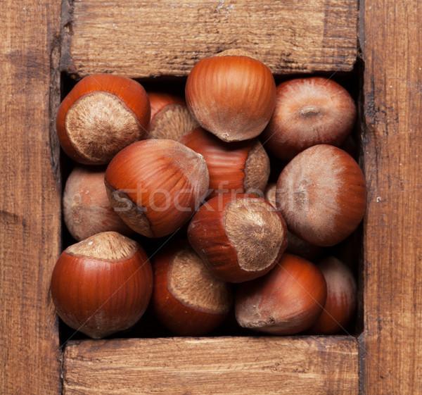 栗 ナッツ 木製 ボックス 先頭 表示 ストックフォト © karandaev