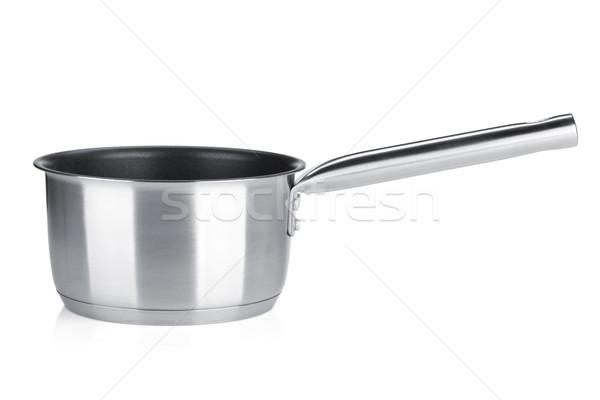 Acier inoxydable pot isolé blanche alimentaire maison Photo stock © karandaev