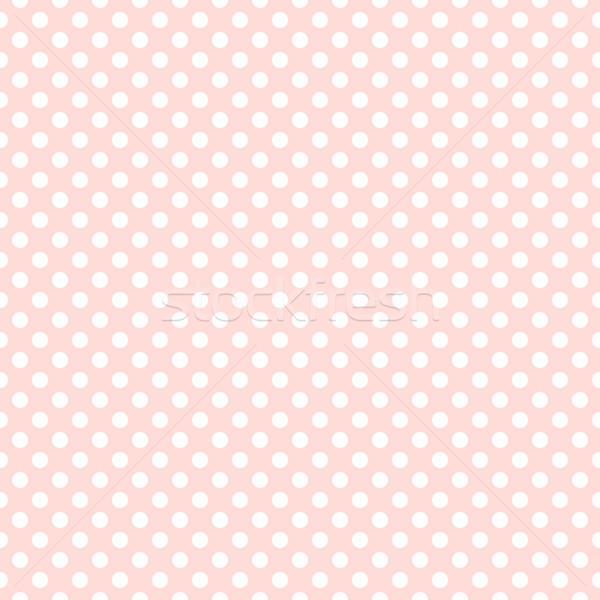 Seamless pink polka dot background Stock photo © karandaev