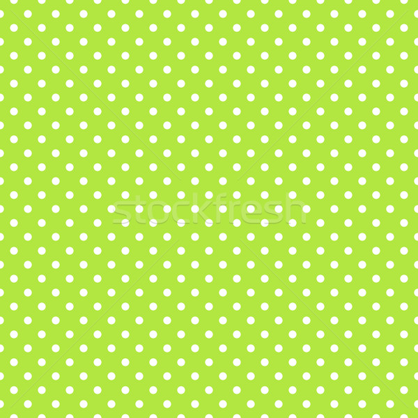 Seamless green polka dot background Stock photo © karandaev