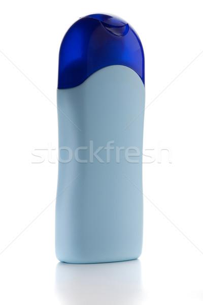 Kék sampon üveg izolált fehér test Stock fotó © karandaev