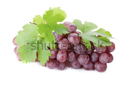 Red grapes with leaves Stock photo © karandaev