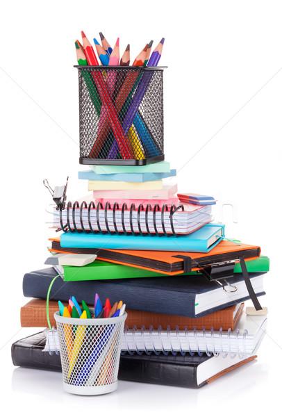 Iskola irodaszerek izolált fehér iroda toll Stock fotó © karandaev