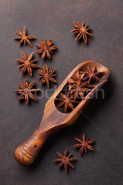 Bor hozzávalók fűszer csillag ánizs kő Stock fotó © karandaev