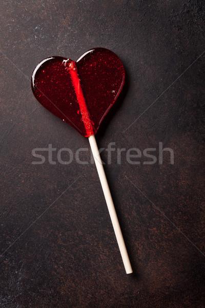 Valentines day greeting card. Sweet candy heart Stock photo © karandaev