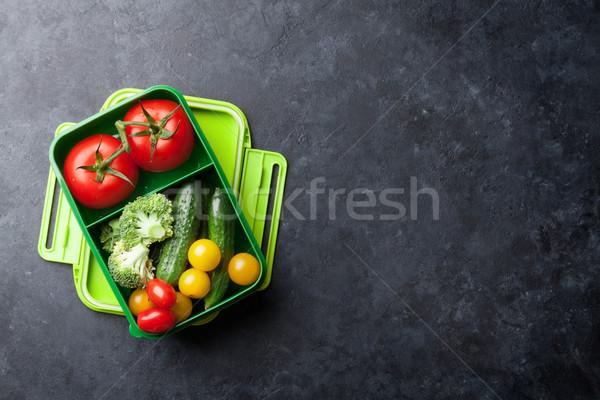 ストックフォト: ランチ · ボックス · 野菜 · 子供 · 健康