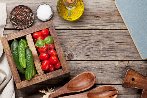 Cooking ingredients Stock photo © karandaev