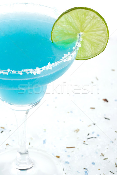 Blue margarita cocktail Stock photo © karandaev