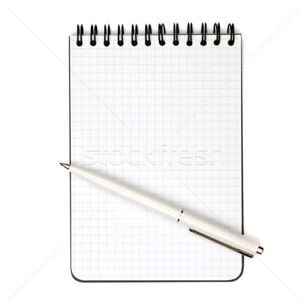 Kalem notepad beyaz yalıtılmış kâğıt çalışmak Stok fotoğraf © karandaev