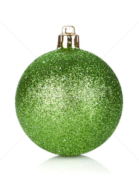 Noël vert babiole décoration isolé blanche Photo stock © karandaev