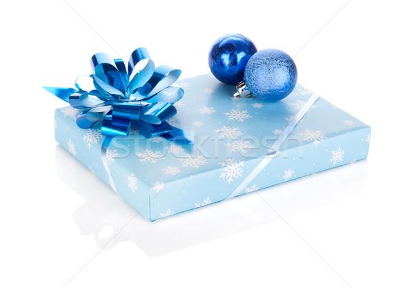 Сток-фото: Рождества · шкатулке · изолированный · белый · фон · зима