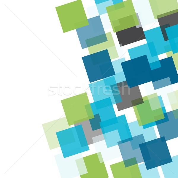 Abstract square mosaic background Stock photo © karandaev