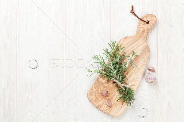 Vers tuin rosmarijn knoflook top Stockfoto © karandaev