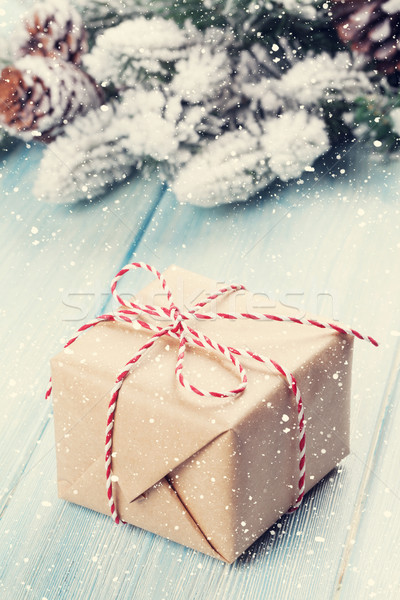 Christmas gift box Stock photo © karandaev