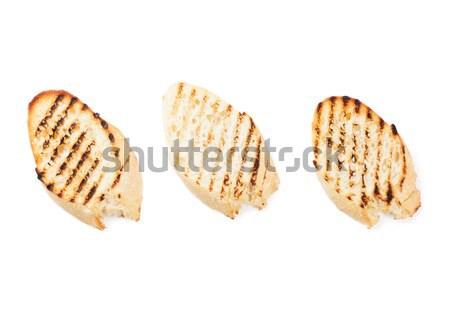 Gegrillt Toast Brot isoliert weiß Textur Stock foto © karandaev