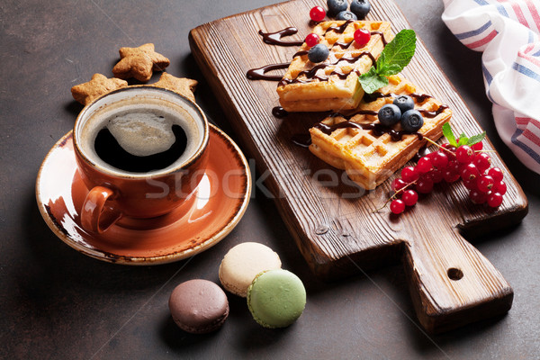 Kahve şekerleme karpuzu gıda çikolata Stok fotoğraf © karandaev