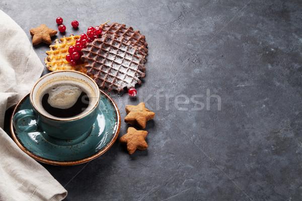Kahve karpuzu görmek bo gıda çikolata Stok fotoğraf © karandaev