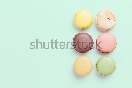 Colorful macaroons. Sweet macarons Stock photo © karandaev