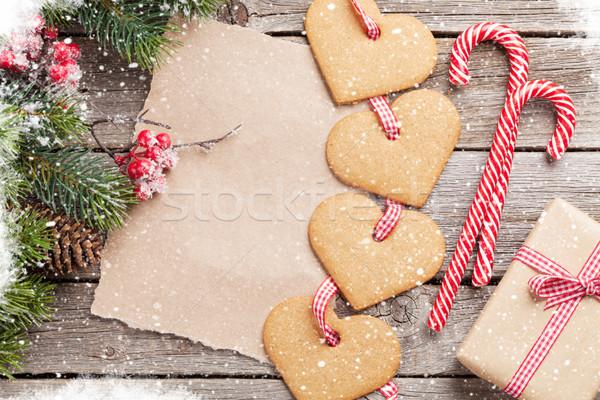 Christmas paper for your greetings Stock photo © karandaev
