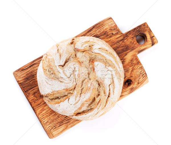 Stock photo: Loaf of crusty bread