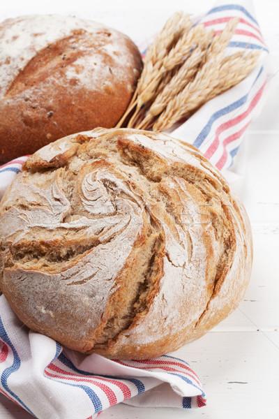 Homemade crusty bread Stock photo © karandaev