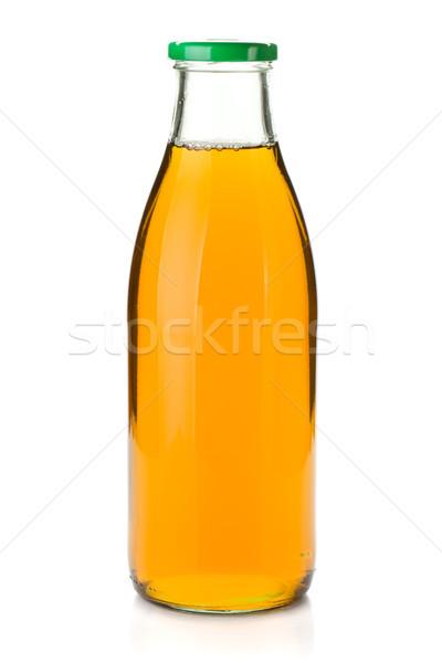 リンゴジュース ガラス ボトル 孤立した 白 自然 ストックフォト © karandaev