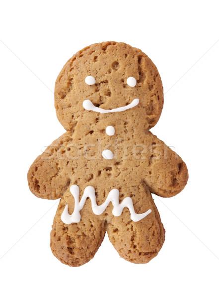 Gingerbread man cookie Stock photo © karandaev