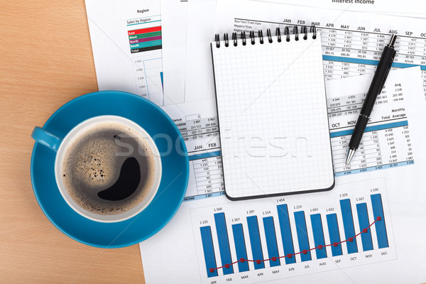 Coffee cup on contemporary workplace Stock photo © karandaev