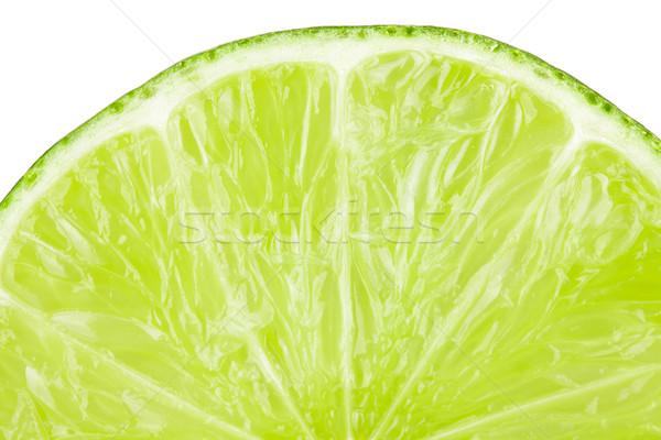 Macro food collection - Lime slice Stock photo © karandaev