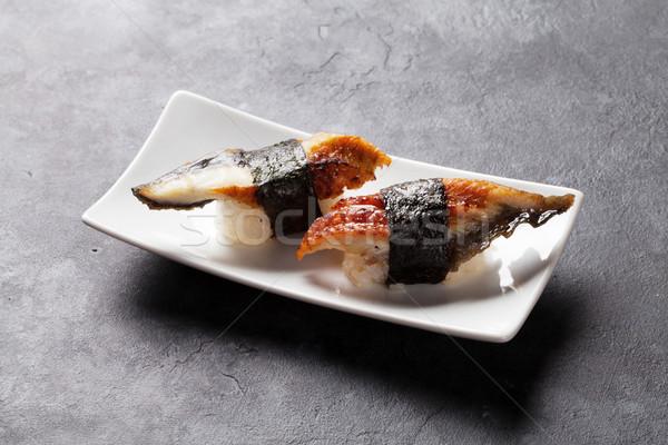 Set of unagi sushi Stock photo © karandaev