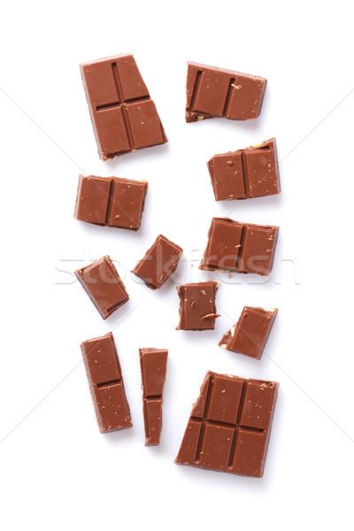 Broken chocolate bar Stock photo © karandaev
