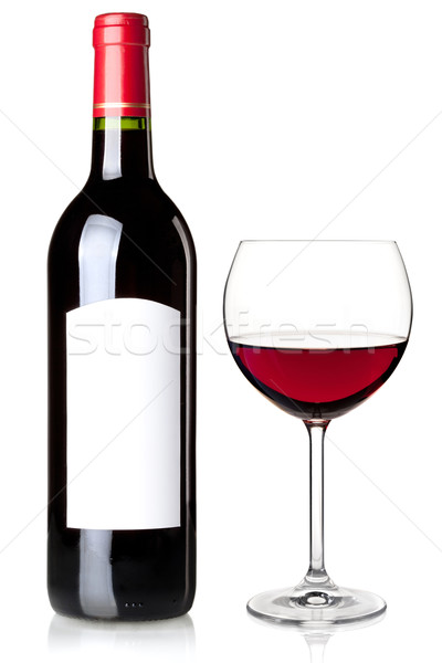 Red wine in bottle and glass Stock photo © karandaev