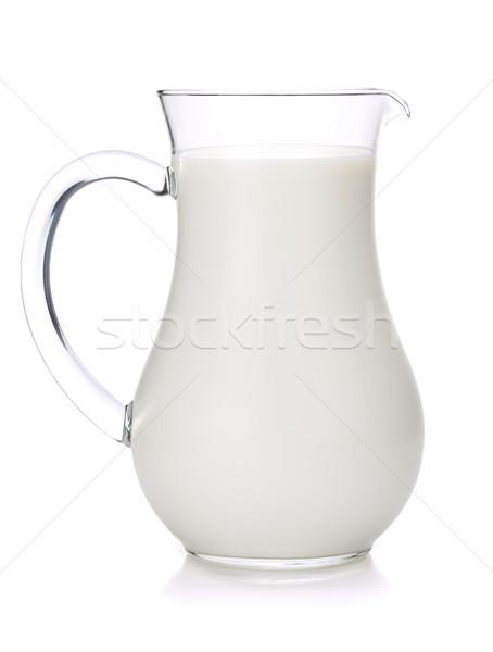 Tejesflakon izolált fehér üveg tehén reggeli Stock fotó © karandaev