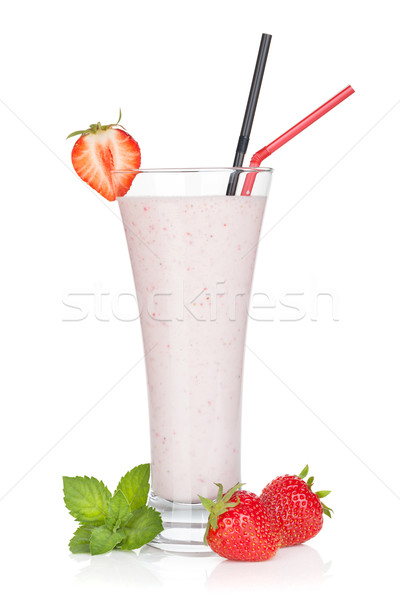 Strawberry smoothie cocktail Stock photo © karandaev