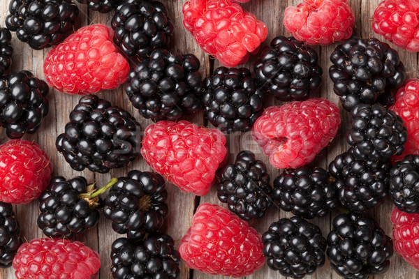 Blackberries and raspberries Stock photo © karandaev